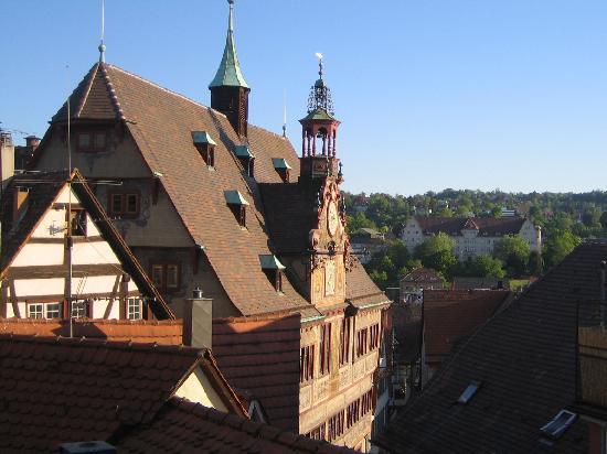 Hotel Hospiz Tubingen : View of Town Hall from hotel window