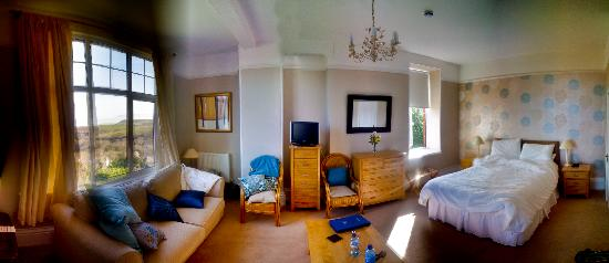 Our room at Boscastle house - very spacious