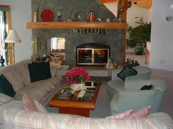 Chalet Beau Sejour: Fireside guest lounge