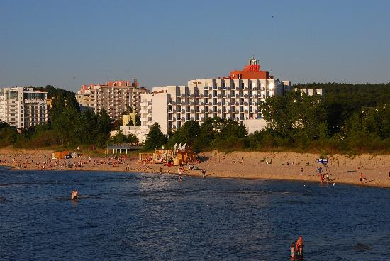 Amber Baltic Hotel: hotel from the pier