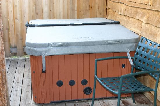 Fall River Cabins: hot tub