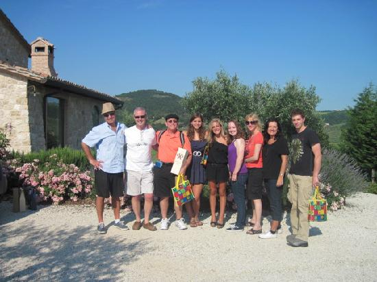 Montefalco, Italy: Our family hapy to have toured