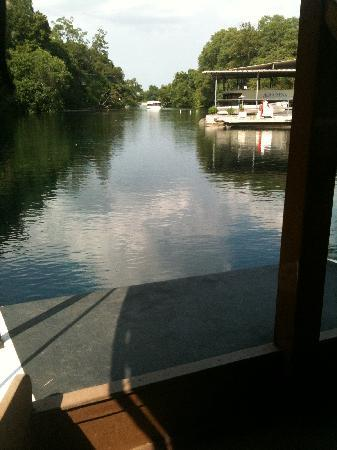 San Marcos, TX: Riding on a glass bottom boat. (Photo by K.Barnette)
