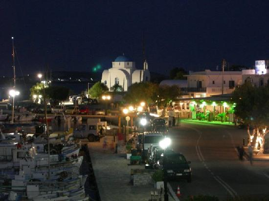 Mantalena Hotel: View from the terrasse at night
