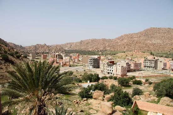 Tafraoute, Maroc : Blick von unserem Hotelbalkon