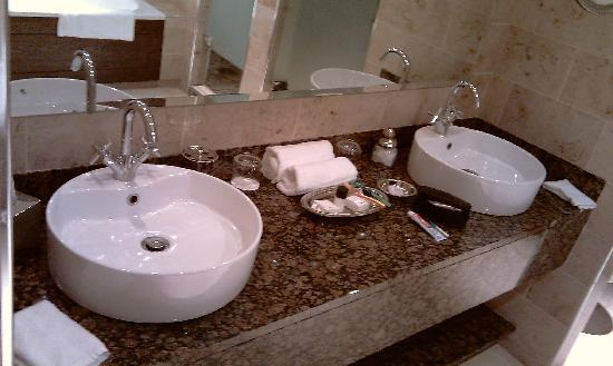 Lough Eske Castle, a Solis Hotel & Spa: his and hers sink  all very spacious