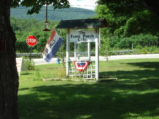 The Front Porch Cafe: the sign