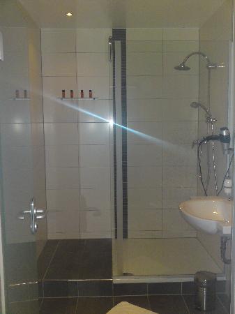 Hotel Villa Bassermann: Duschbad von Zimmer 219