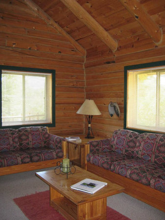 Yellowstone Country Bed and Breakfast : our cabin living room