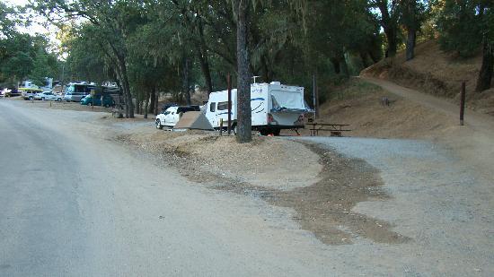 Santa Margarita KOA : Pull thru site located next to sewer lift station