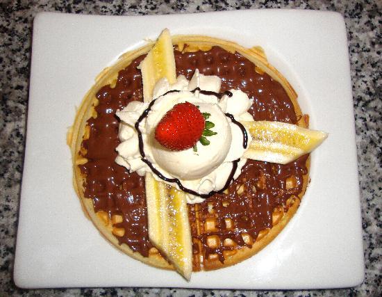 Crepes & Waffles: Waffle de Nutella y Banano