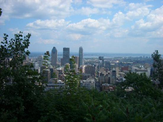 Montreal, Canada: From Mount Royal looking down