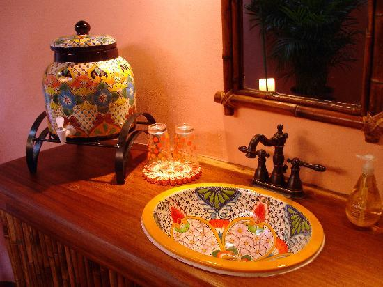 Tres Boutique Hotel Yoga Retreat Hand Painted Ceramic Sinks
