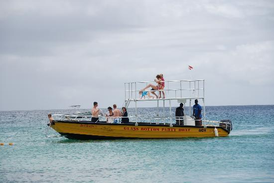 Saint James Parish, Barbados: The Glass Bottom Party Boat