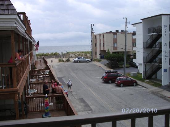 Surf Inn Suites: View from the balcony