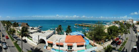 Hotel Bahia Chac Chi: Panorama from our balcony