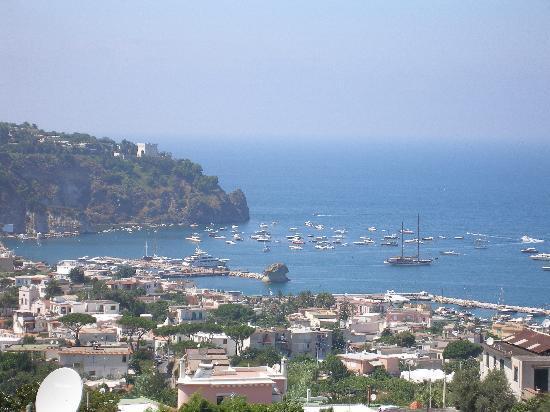 Hotel Villa Sirena: Panorama dal solarium (Lacco Ameno)