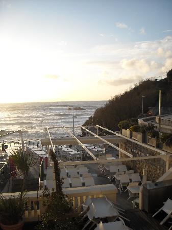 Hôtel Le Caritz : la vue sue l'océan
