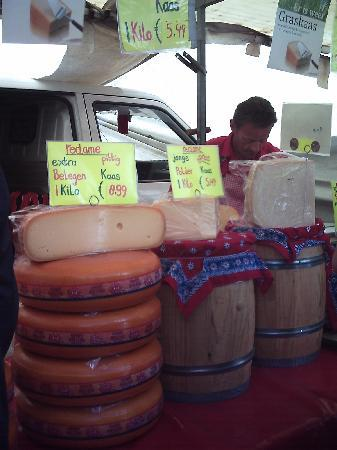 Haarlem, The Netherlands: Cheese seller in Grote Markt