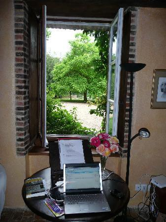 "Chateau de la Barre : A serene view from my ""office"" in Les Glycines"