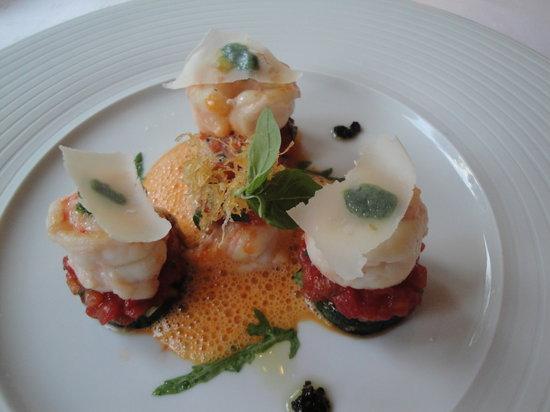 Waldhotel Sonnora Restaurant: langoustines and tomatoes