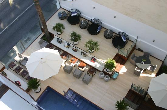 Hotel Feliz: Loungen från vår balkong