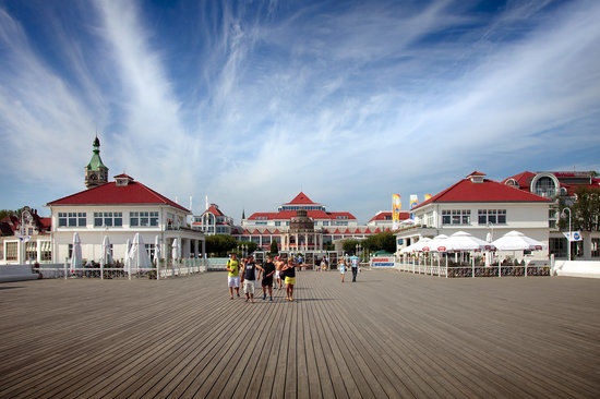 Sopot, Pologne : The boardwalk pier
