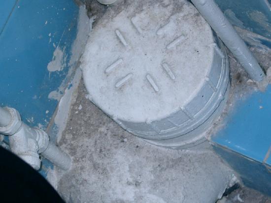 Aquarius Hotel: Das Abwasserrohr der Toilette