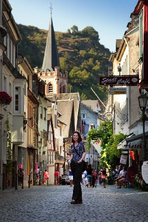 Sankt Goar, เยอรมนี: The streets of Bacharach