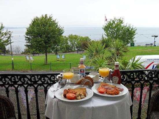 The Downs, Babbacombe: Breakfast on our balcony