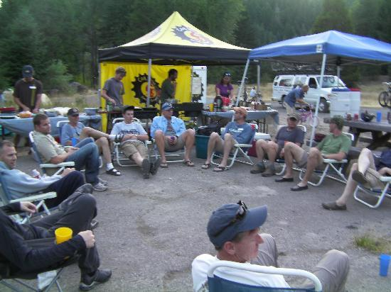 Bend, OR: Cog Wild Camp set up