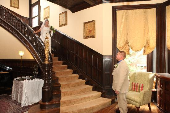 Inn at the Park Bed & Breakfast: When I first saw this staircase I cried I knew this is where I wanted to be married