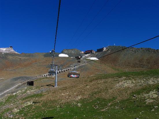 Davos, İsviçre: Chairlift to Weissfluh