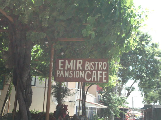 Emir Pansion Bistro Cafe: Emir Pension Sign