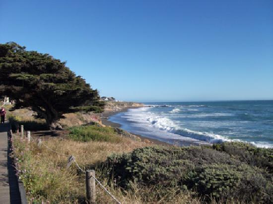 Cambria, CA: view of Moonstone Beach