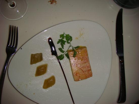 Bar Le Passage: foie gras with rhubarb