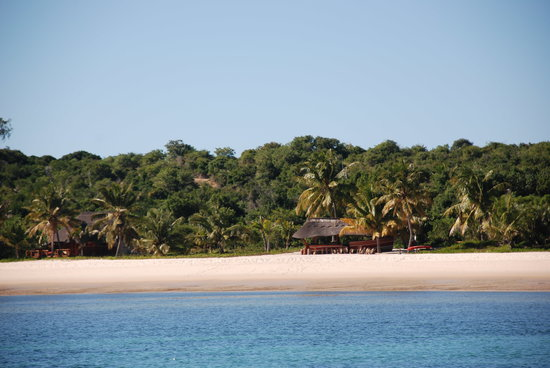 Benguerra Island, Mocambique: Benguerra from the water
