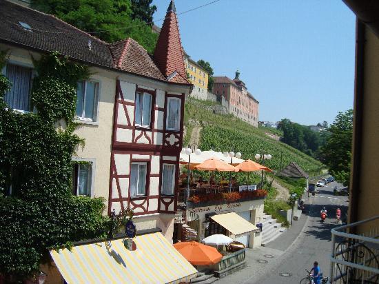 Hotel Seehof: Sicht von unserem Hotelzimmer auf die Weinberge