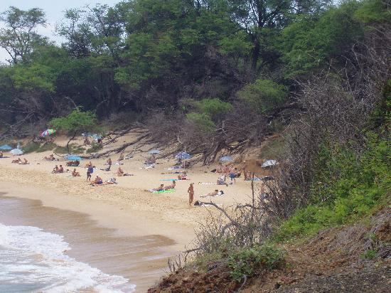 Little Beach: view from the hill between Little and Big Beaches