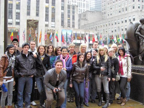 German/English Tours of New York City: Karin Bratone: Visitng Hish School Class from Bruck and der Mur in Austria