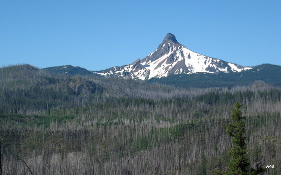 Sisters, OR: Mount Washington as viewed from the eastern slope of Santiam Pass