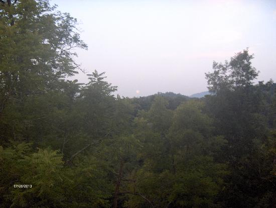 Appleview River Resort: Mountain view from balcony