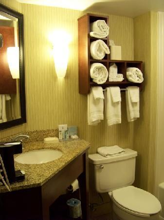 Hampton Inn Beckley: Nice but not alot of counter space