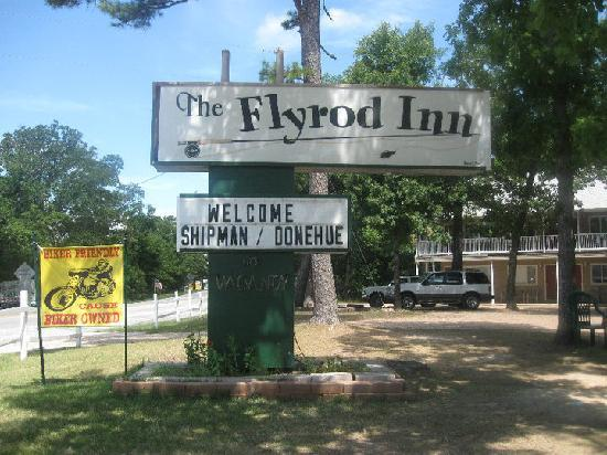 The Country Inn of Eureka Springs: our names on the sign