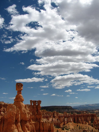 Bryce Canyon National Park, UT: Thors Hammer- afternoon clouds