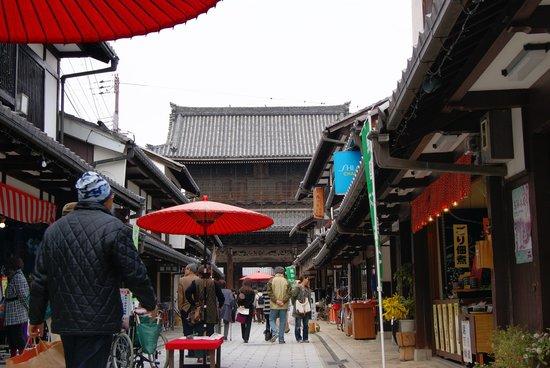 Nagahama, Japon : 町の風景 参道