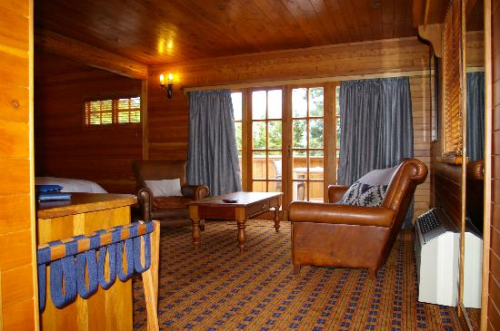 Powderhorn Chateau Mount Ruapehu: Chambre Luxe avec terrasse de 12 m² privée