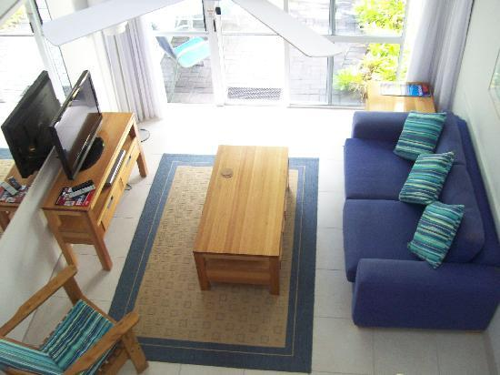Caribbean Noosa: The living-room from the bedroom