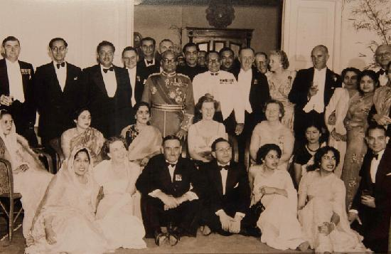 The Elgin, Darjeeling: The Maharaja of Burdwan with family and guests at the Elgin