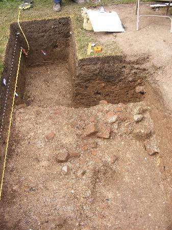 Wisbech Castle: A trench from the Bishop's Palace dig 2009